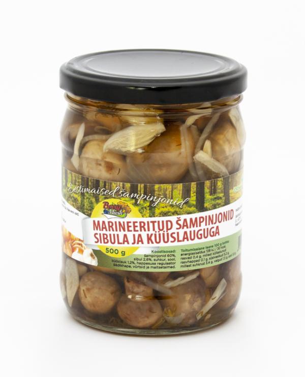 Marinated Champignon With Garlic Onion 500 grams